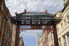 The Main Gate of London ChinaTown Stock Images