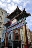The Main Gate of London ChinaTown Royalty Free Stock Photos