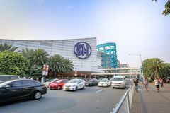 Main gate of Mall of Asia in Pasay, Manila city. Manila, Philippines - Feb 10, 2018 : Manila, Philippines - Feb 10, 2018 : Main gate of Mall of Asia in Pasay Royalty Free Stock Photo
