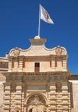 The Main Gate (Mdina Gate), Mdina. Malta. The Mdina Gate (Main Gate or Vilhena Gate), the main entrance to the old fortifide city of Mdina. Malta Royalty Free Stock Photography