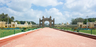 Main gate of Mysore Maharajah's palace Stock Photography
