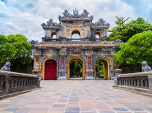 Main gate in the old citadel of Hue, Vietnam Royalty Free Stock Images