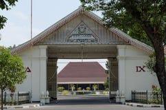 The main gate of pakualaman palace, yogyakarta. Pura Pakualaman is a Kadipaten (regency) Palace as well as the dwelling of all generations and family of Pakualam Royalty Free Stock Photo