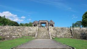 Main gate of ratu boko palace Royalty Free Stock Photography
