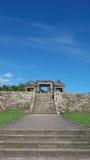 Main gate of ratu boko palace royalty free stock image