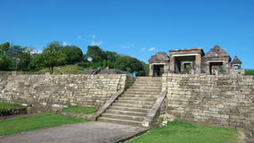 Main gate of ratu boko palace Royalty Free Stock Photography