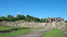 Main gate of ratu boko palace. The main gate of ratu boko palace complex Royalty Free Stock Image