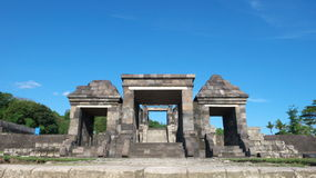 Main gate of ratu boko palace. The main gate of ratu boko palace complex Royalty Free Stock Photos