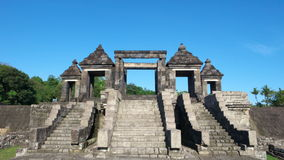 Main gate of ratu boko palace Stock Images