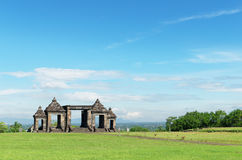 The main gate of ratu boko palace complex Royalty Free Stock Photo