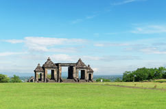 The main gate of ratu boko palace complex Stock Image