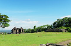 The main gate of ratu boko palace complex Royalty Free Stock Image
