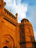 Main gate of Red Fort at sunset, New Delhi Royalty Free Stock Photos