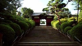 The main gate of the Shinto Temple Gokoku Ji. Tokyo. Japan stock footage