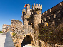 Main gate of  Templar Castle in Ponferrada Royalty Free Stock Photography