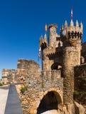 Main gate of  Templar Castle in Ponferrada Royalty Free Stock Images