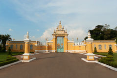 Main gate to Royal Palace in Phnom Penh Royalty Free Stock Photography