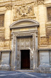 The main gate to the St Francis of Assisi Church, Valletta, Malt Royalty Free Stock Photos