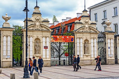 The main gate to the University of Warsaw Stock Photos