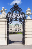 Main gate to the Upper Belvedere building in Vienna Austria. Royalty Free Stock Image