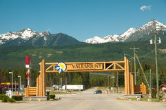 Main gate to Valemount Royalty Free Stock Image
