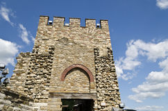 Main gate of Tsarevets fortress Stock Image