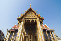 Main gate of Wat Phra Keaw. Grand palace is the Bangkok's most famous landmark which was built 1782. Within the palace complex are several impressive buildings Royalty Free Stock Photos