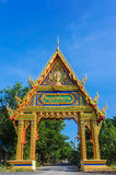 Main Gate of Wat PhuTonUTidSitThaRam Temple in surat thani,thail Royalty Free Stock Photo