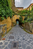 Main gates and buildings to Bagnoregio town, Lazio, Italy Stock Image