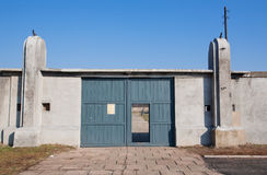 Main gates of the concentration camp Stock Image