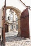 Main gates to Parlament buildings, prague Stock Images