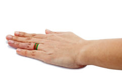 Main gauche de fille Images stock