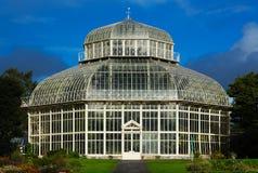 Main glasshouse of The National Botanic Gardens in Dublin, Ireland royalty free stock image