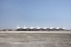 Main grandstand in Bahrain International Circuit Royalty Free Stock Photography
