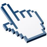 main graphique du pixel 3D - bleu d'index illustration stock