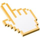 main graphique du pixel 3D - jaune d'index illustration libre de droits