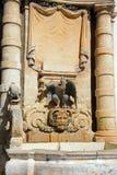 Main guard building fountain, Valletta. Stock Photo