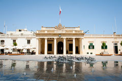 Main Guard building in palace square, Valletta, Malta island Royalty Free Stock Images