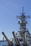 Main Guns of the USS Missouri Battleship Stock Image