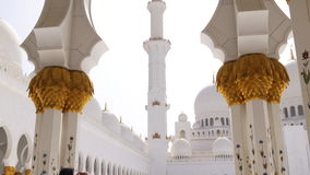 Main hall of famous uae mosque 4k stock footage