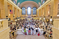 Main Hall of grand central station during the afternoon rush hour Stock Photos