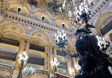 Opera Paris interior. Main hall interior of Opera Garnier in Paris France royalty free stock photos