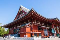 The Main Hall (Kannondo Hall) at Senso-Ji temple in Tokyo, Japan Royalty Free Stock Photography