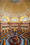 Main Hall of the Library of Congress ceiling DC Stock Image