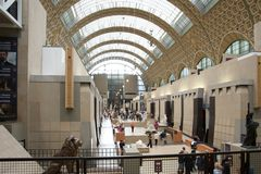 Main hall of the Musee d'Orsay Stock Photography