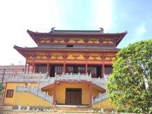 Main hall-Nanchang Buddha Temple. Nanchang Buddha Temple, a Buddha statue placed at the gate of the temple royalty free stock image