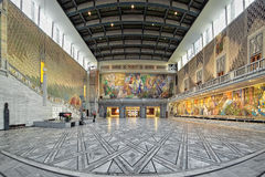 Main Hall in Oslo City Hall, Norway Royalty Free Stock Image