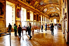 Main hall of the Palais de Louvre 2 Stock Images