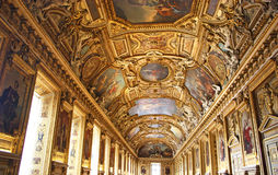 Main hall of the Palais de Louvre Royalty Free Stock Photos