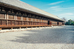 Main Hall of Sanjusangendo Buddhist Temple in Kyoto, Japan. Stock Photo